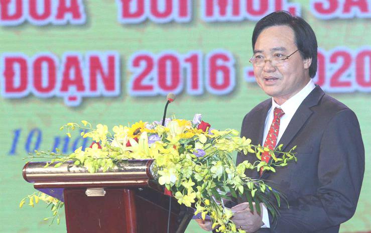 """Bộ trưởng Phùng Xuân Nhạ phát động phong trào thi đua """"Đổi mới, sáng tạo trong dạy và họcgiai đoạn 2016-2020"""""""