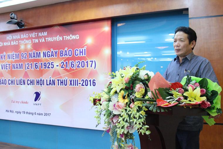 Thứ trưởng Hoàng Vĩnh Bảo phát biểu tại buổi gặp mặt