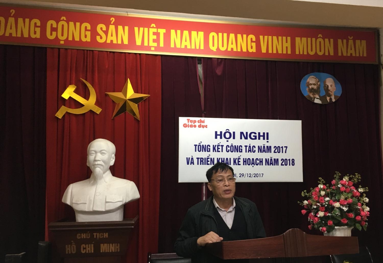 Ảnh 1. TS. Lê Thanh Oai, Tổng Biên tập phát biểu tại Hội nghị