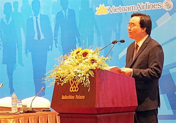 Bộ trưởng Phùng Xuân Nhạ phát biểu bế mạc hội nghị