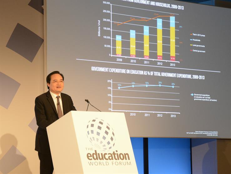 Bộ trưởng Phùng Xuân Nhạ có bài phát biểu ấn tượng tại Diễn đàn giáo dục thể giới