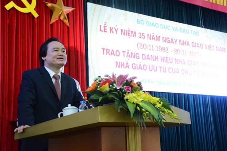 Bộ trưởng Phùng Xuân Nhạ phát biểu tại lễ kỷ niệm