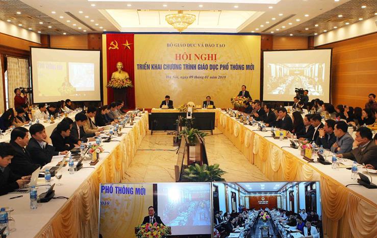 Toàn cảnh Hội nghị tại điềm cầu Bộ GD&ĐT