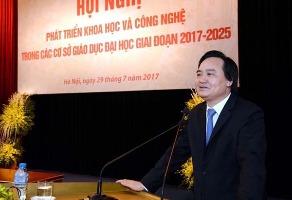 Bộ trưởng Phùng Xuân Nhạ phát biểu tại Hội nghị